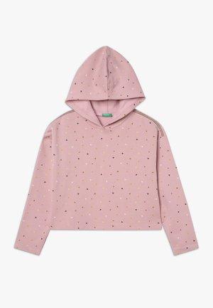 CLOSED  - Mikina skapucí - light pink