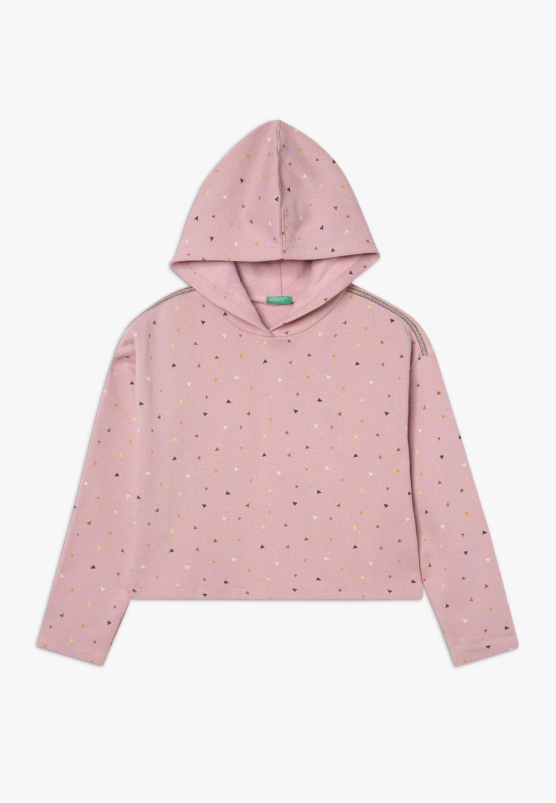 Benetton - CLOSED  - Felpa con cappuccio - light pink