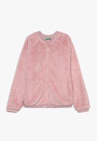 Benetton - MOCK NECK - Sudadera con cremallera - light pink - 0