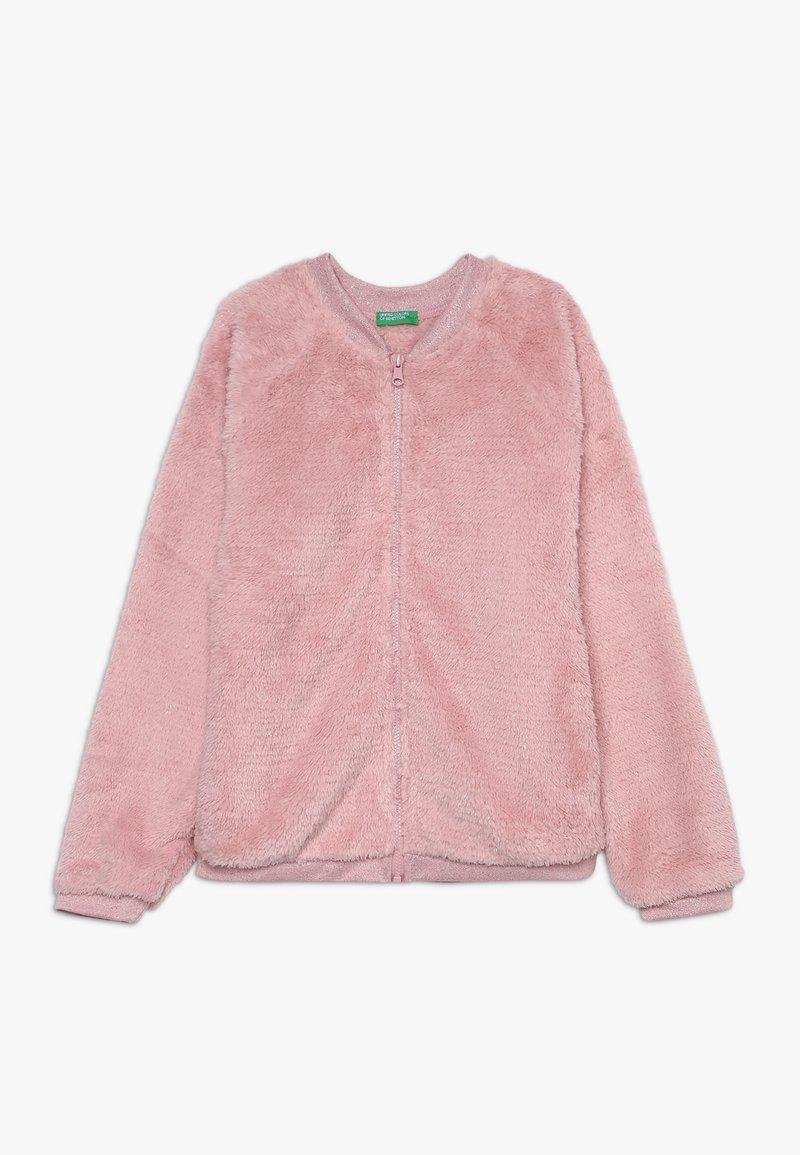 Benetton - MOCK NECK - Sudadera con cremallera - light pink