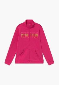 Benetton - Zip-up hoodie - pink - 0