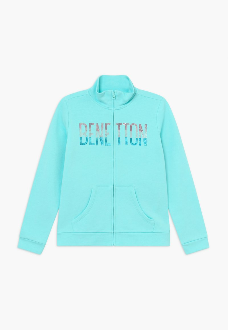 Benetton - Felpa aperta - light blue