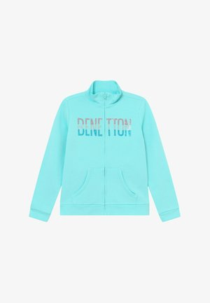 veste en sweat zippée - light blue