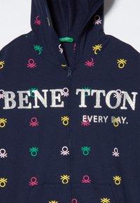 Benetton - HOOD - Hoodie met rits - dark blue - 4