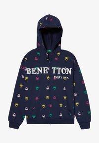 Benetton - HOOD - Hoodie met rits - dark blue - 3