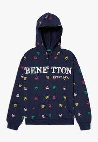 Benetton - HOOD - Hoodie met rits - dark blue - 0