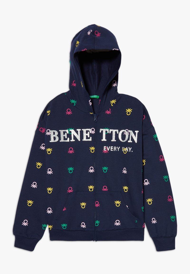 Benetton - HOOD - Hoodie met rits - dark blue