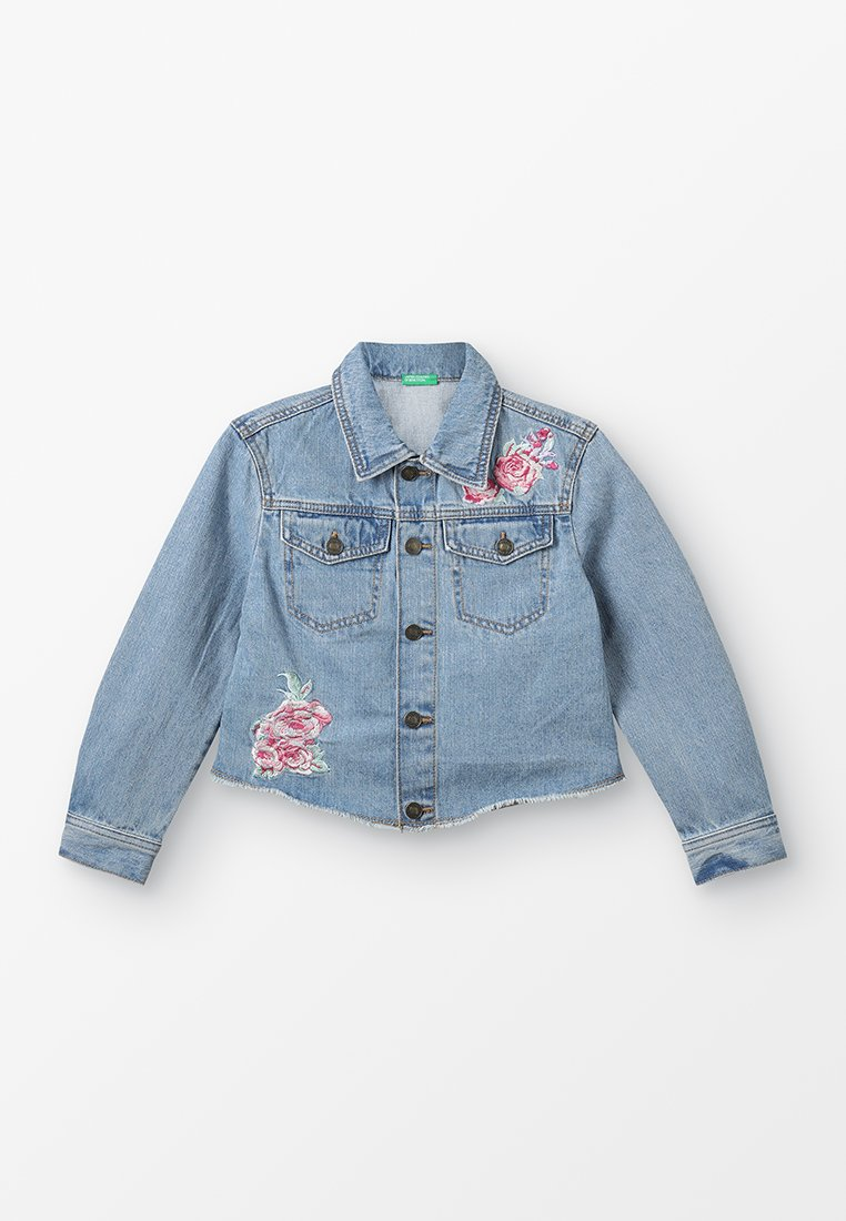 Benetton - JACKET  - Jeansjacke - blue