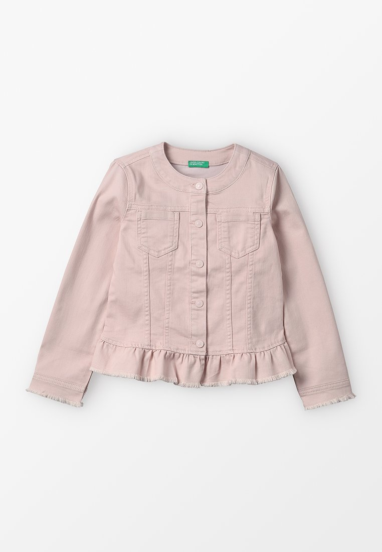 Benetton - JACKET  - Jeansjacke - rose