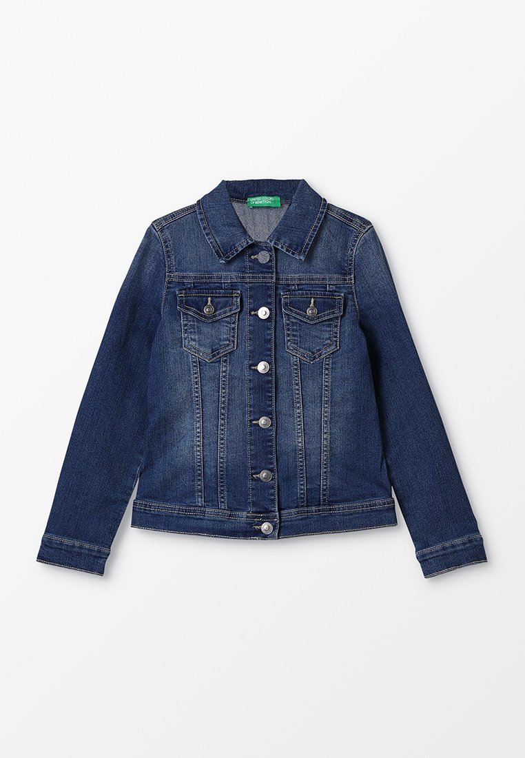 Benetton - JACKET BASIC - Giacca di jeans - blue