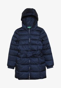 Benetton - JACKET BELT - Cappotto invernale - dark blue - 3