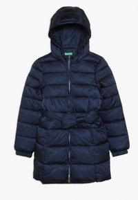 Benetton - JACKET BELT - Winter coat - dark blue - 0