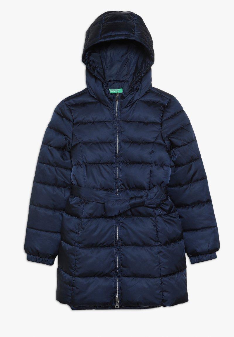 Benetton - JACKET BELT - Abrigo de invierno - dark blue