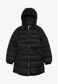 Benetton - JACKET BELT - Zimní kabát - black - 3