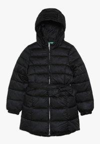 Benetton - JACKET BELT - Zimní kabát - black - 0