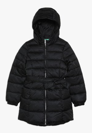 JACKET BELT - Winter coat - black