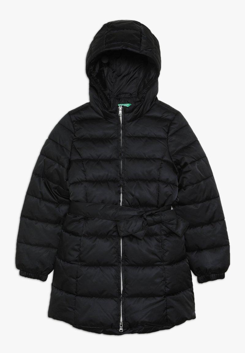 Benetton - JACKET BELT - Zimní kabát - black