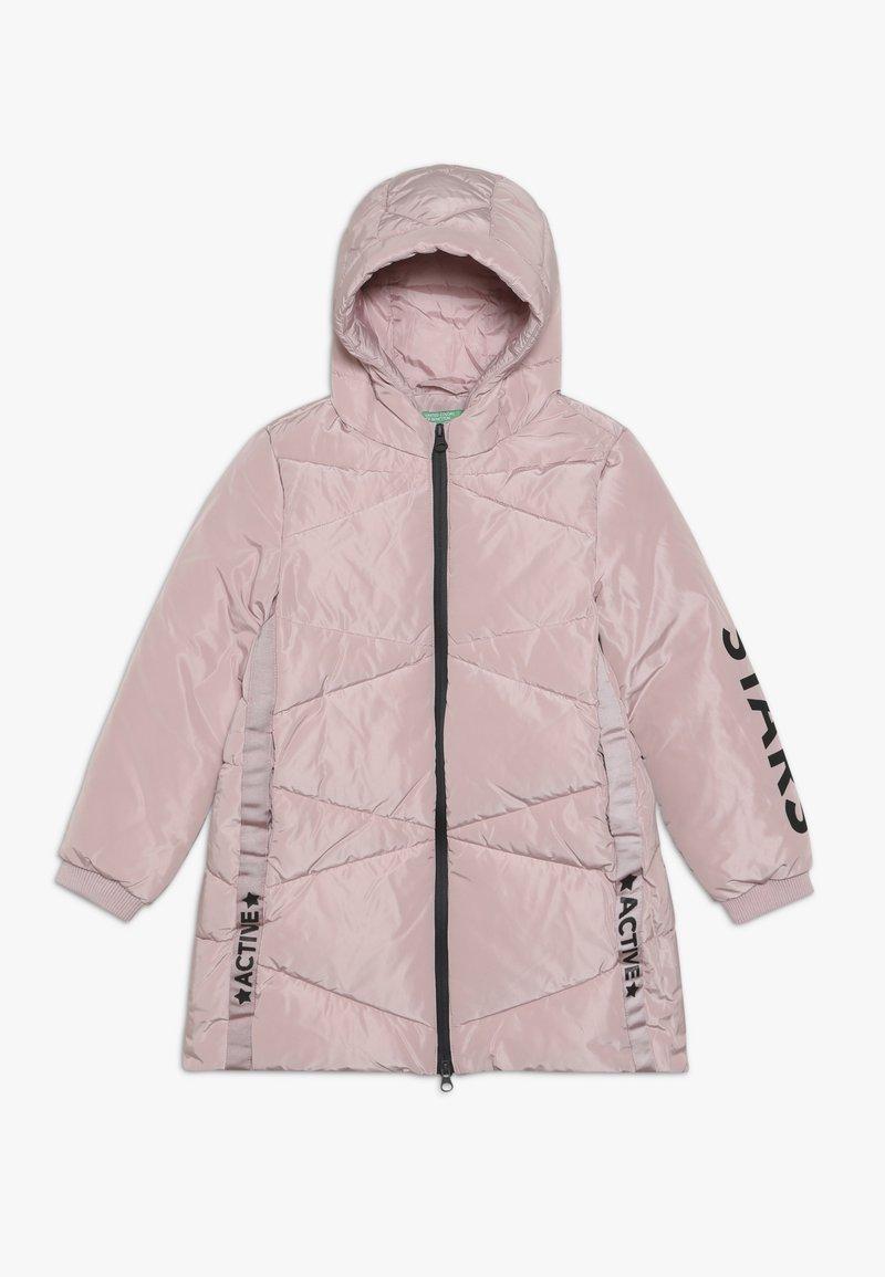 Benetton - Płaszcz zimowy - light pink