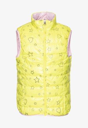 WAISTCOAT - Kamizelka - yellow/lihgt pink