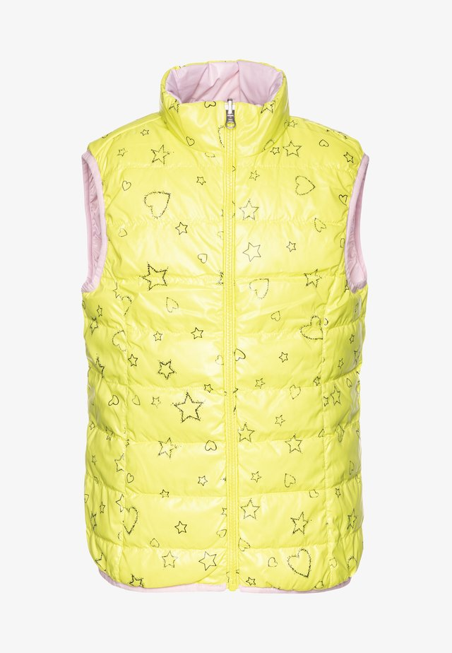 WAISTCOAT - Väst - yellow/lihgt pink