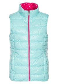 Benetton - WAISTCOAT - Bodywarmer - pink/light blue - 2