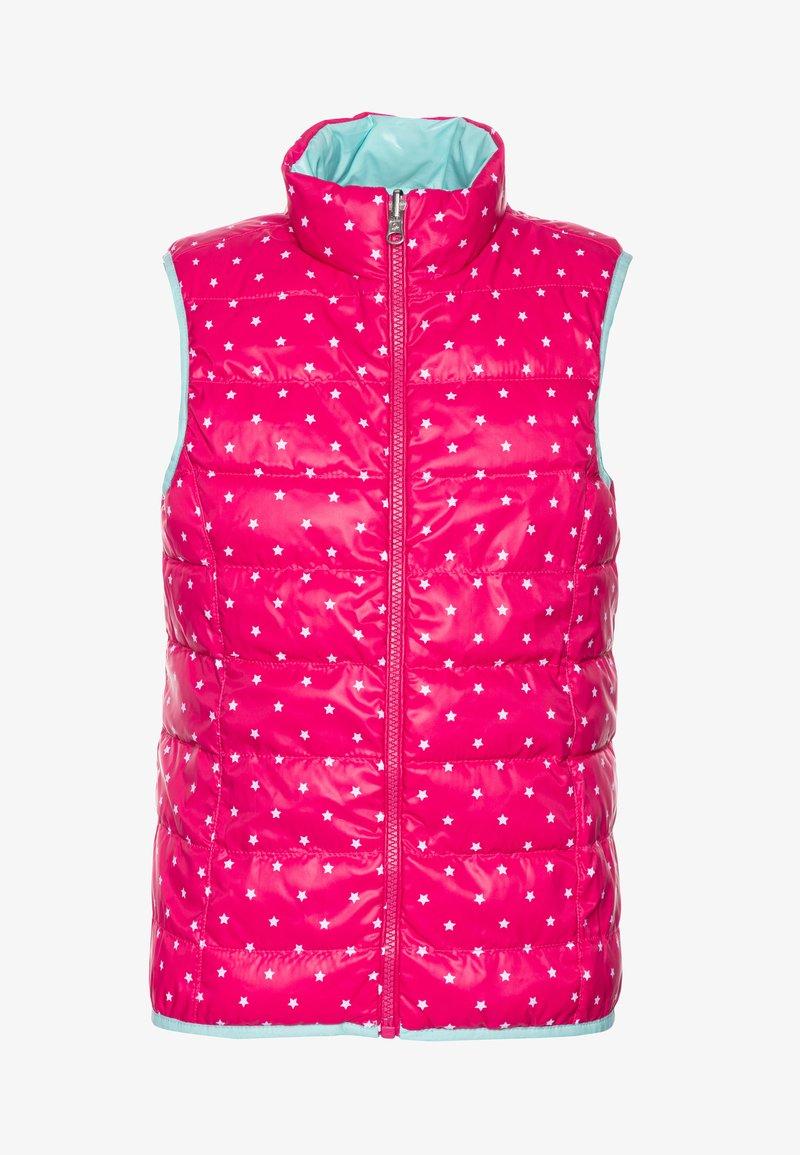 Benetton - WAISTCOAT - Bodywarmer - pink/light blue
