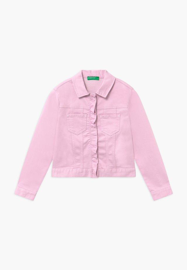 Spijkerjas - pink