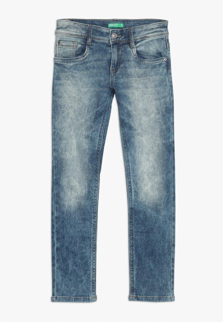 Benetton - TROUSERS - Slim fit jeans - blue