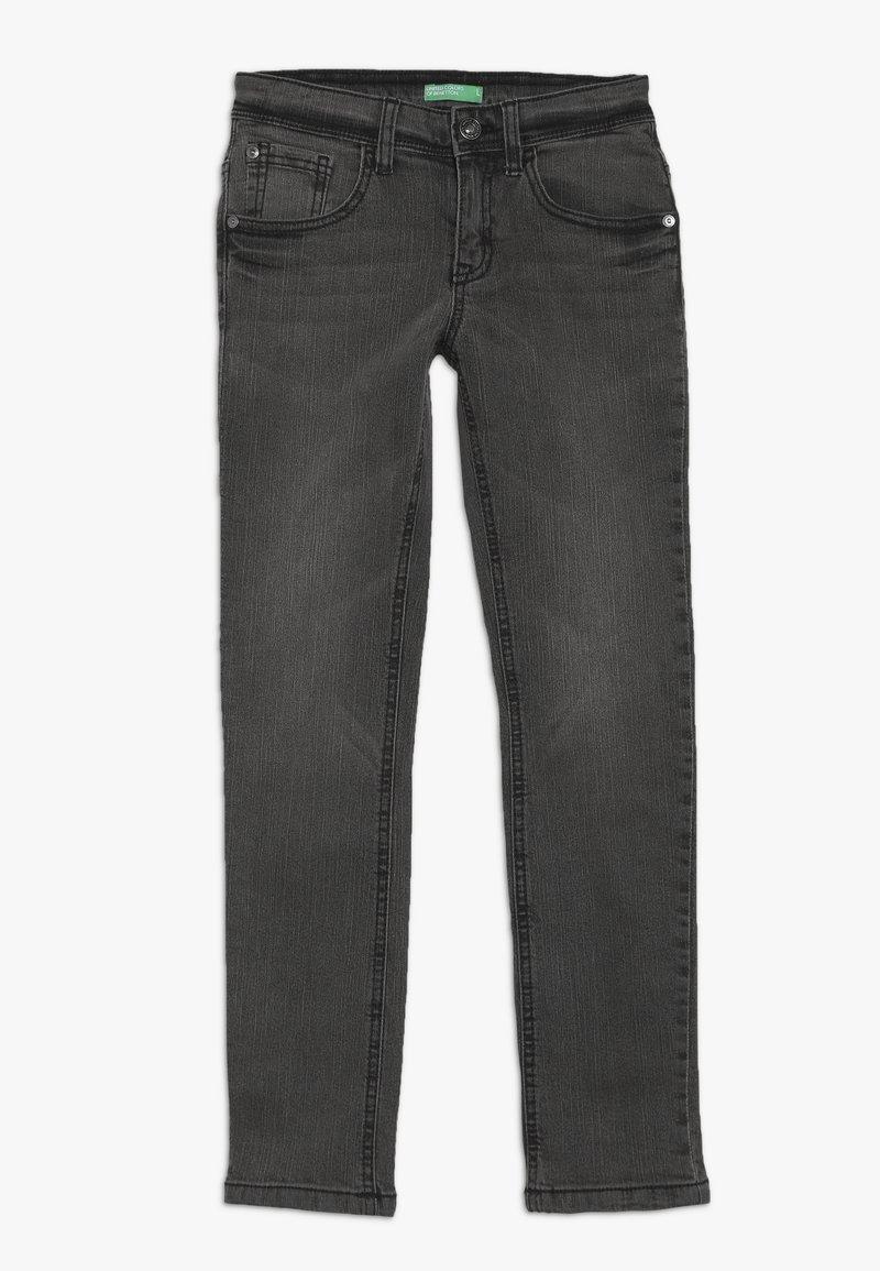 Benetton - TROUSERS - Jeans slim fit - dark grey