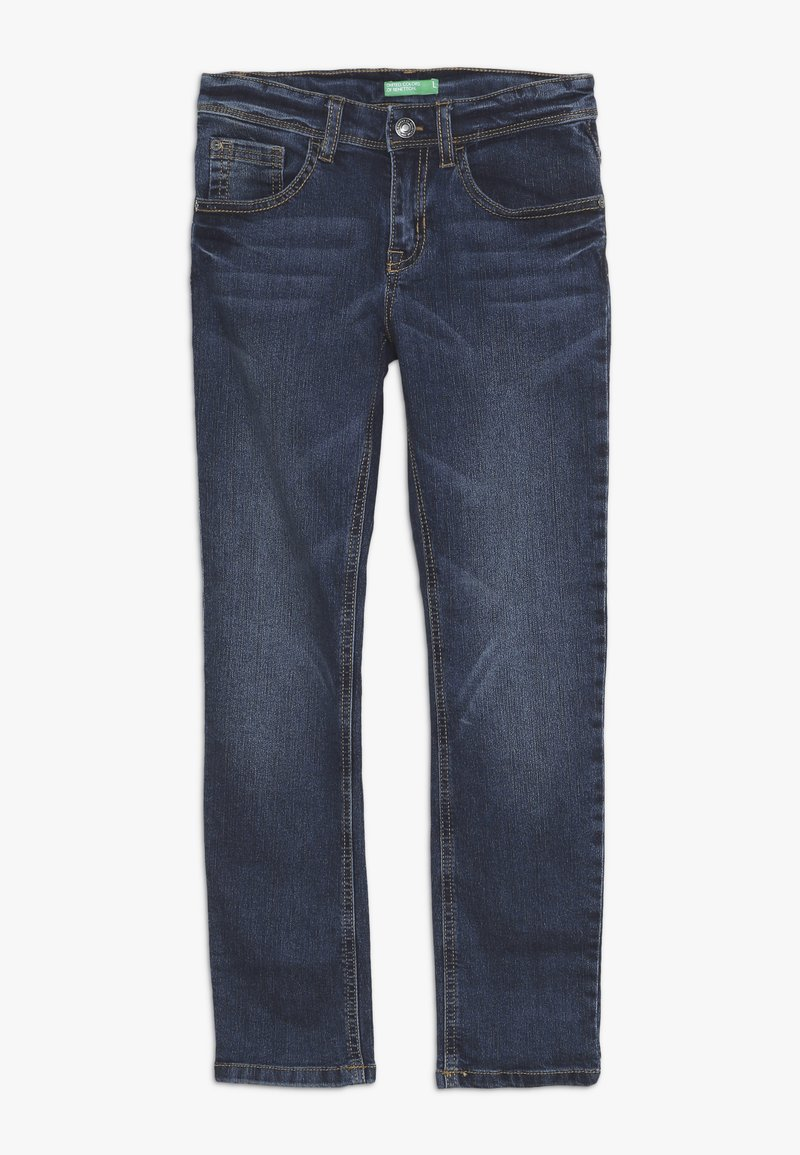 Benetton - TROUSERS - Slim fit jeans - blue