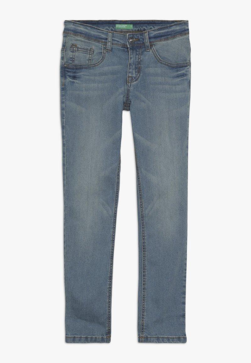 Benetton - TROUSERS - Slim fit jeans - light blue