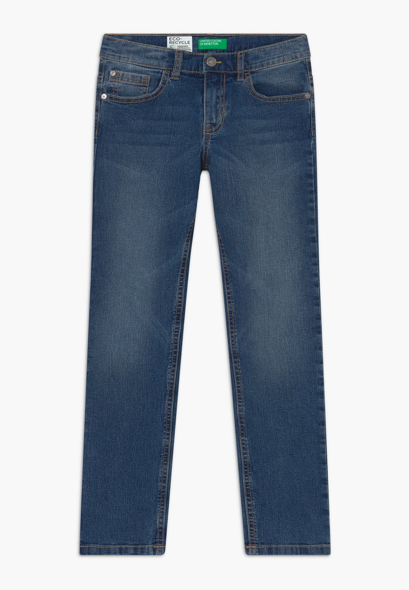 Benetton - Džíny Slim Fit - blue denim