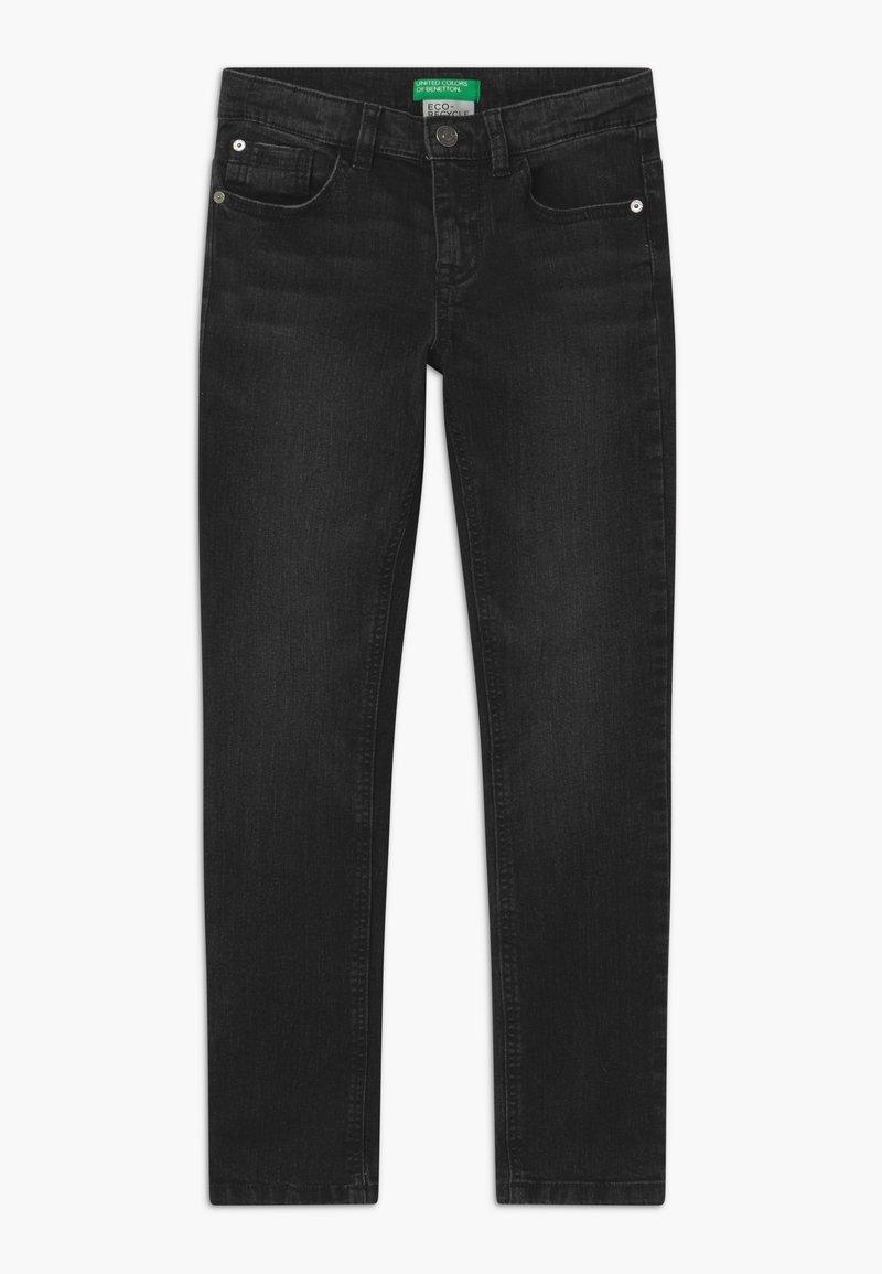 Benetton - BASIC BOY - Slim fit jeans - black denim