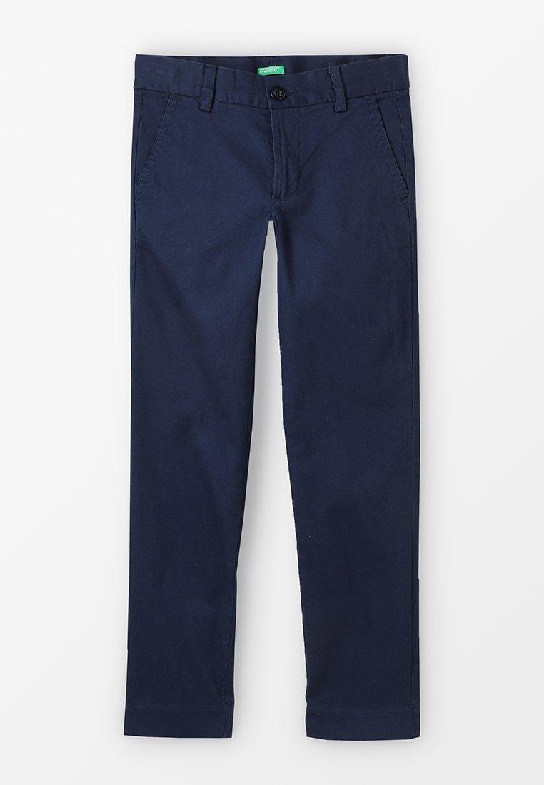 Benetton - TROUSERS - Chino kalhoty - dark blue