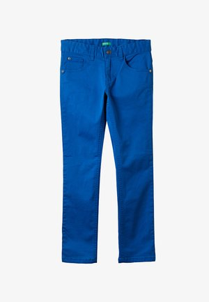 TROUSERS BASIC - Trousers - blue
