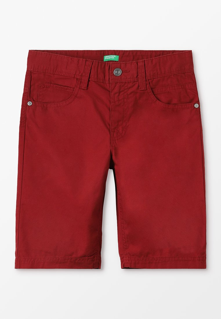 Benetton - BERMUDA BASIC - Shorts - dark red