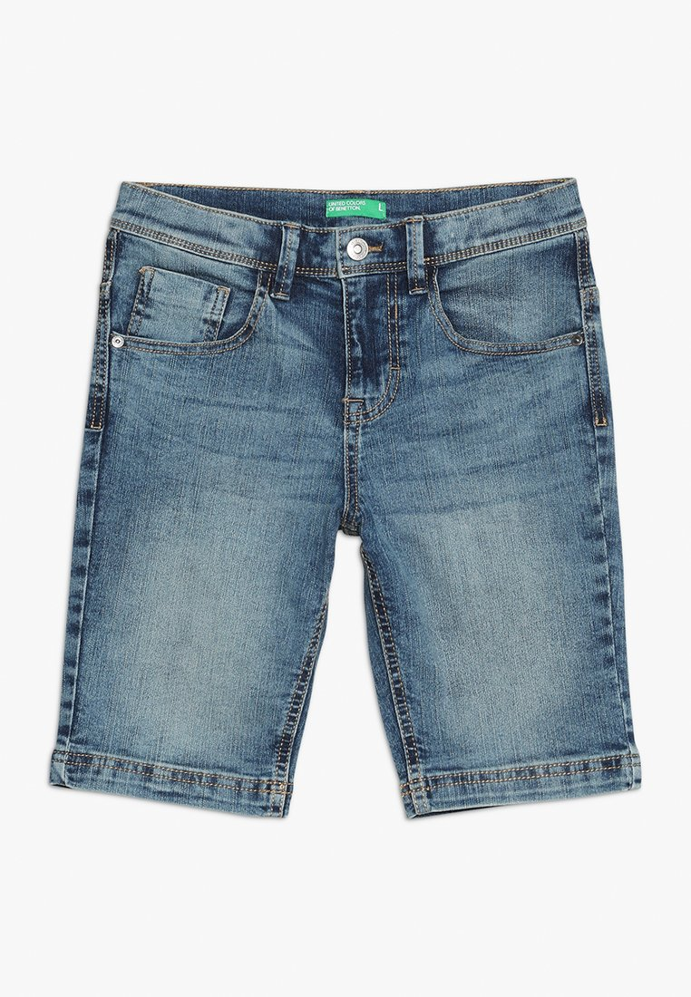 Benetton - BERMUDA BASIC - Denim shorts - blue