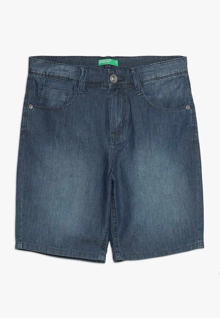 Benetton - BERMUDA - Shorts vaqueros - dark blue