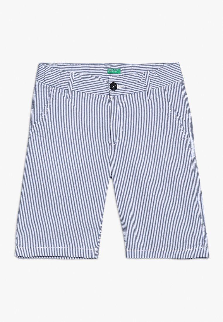 Benetton - BERMUDA - Shorts - light blue/white