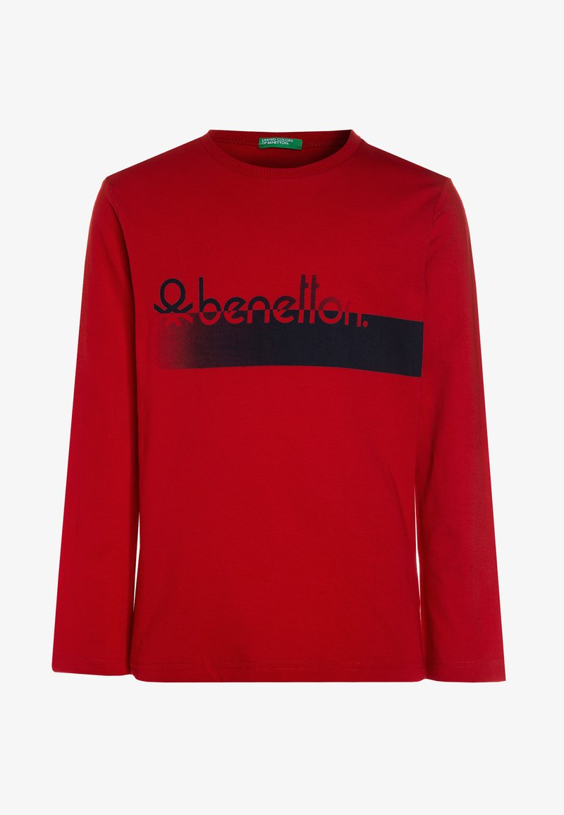 Benetton - Bluzka z długim rękawem - red