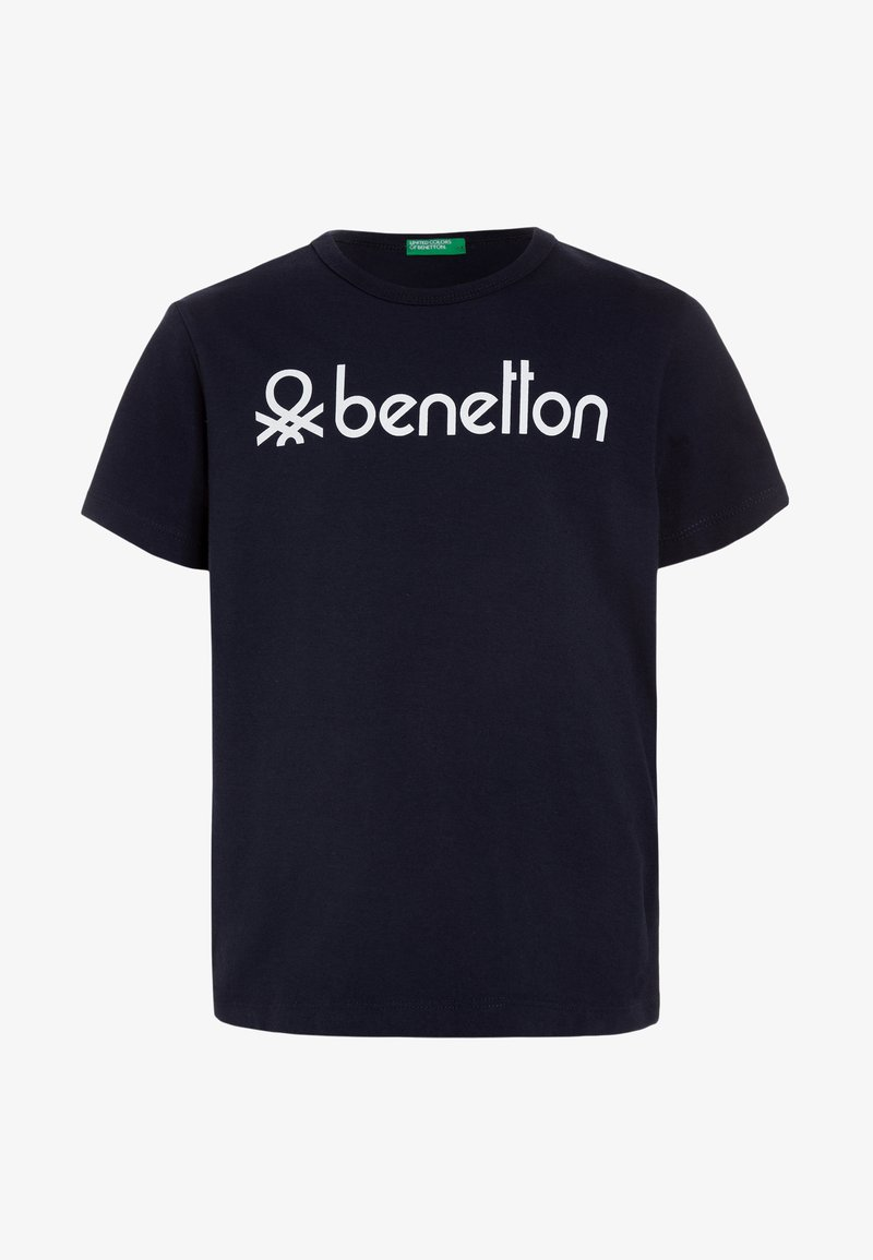 Benetton - T-shirt imprimé - dark blue