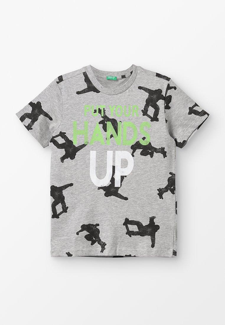 Benetton - T-shirt z nadrukiem - grey
