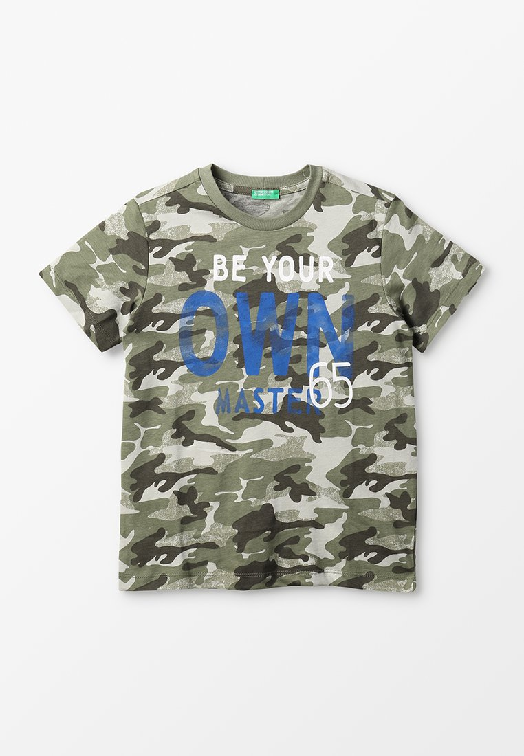 Benetton - T-shirts print - khaki
