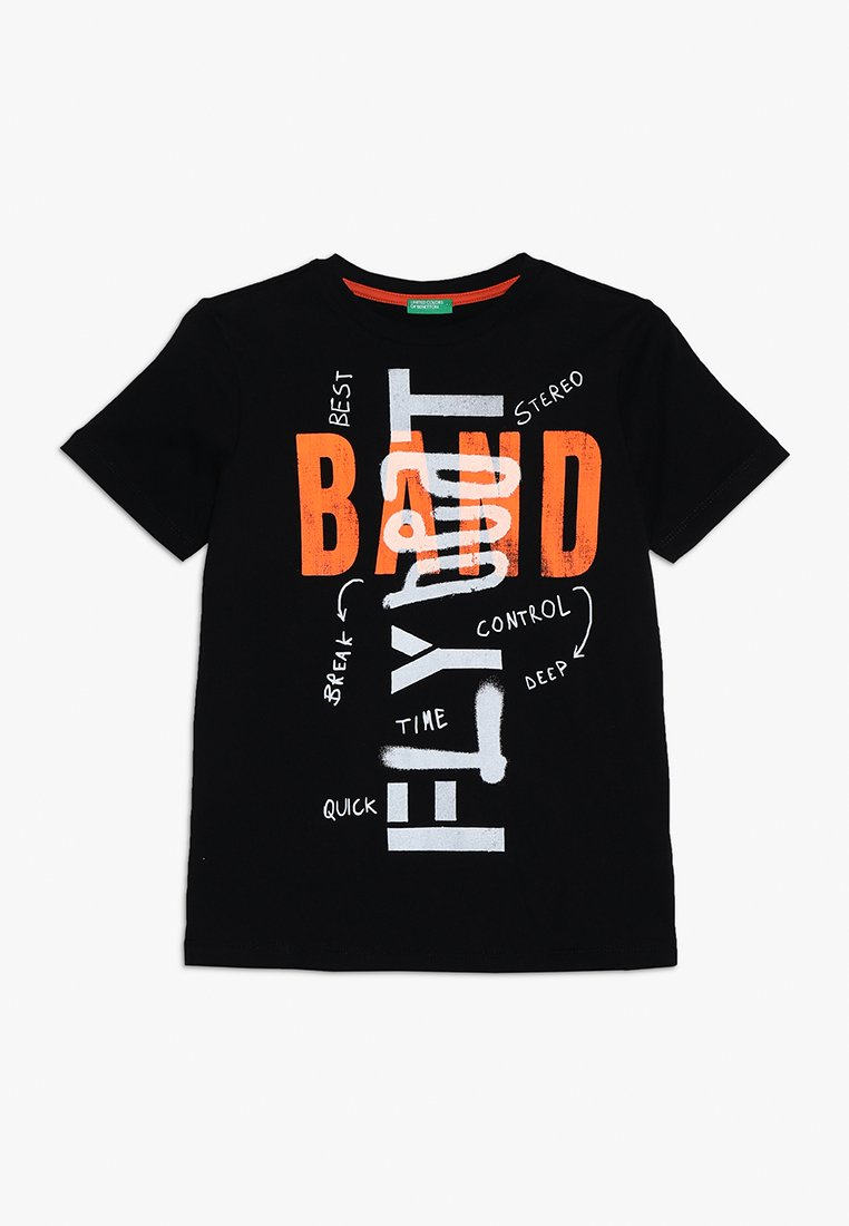 Benetton - T-shirt print - black