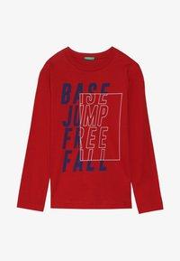 Benetton - Langærmede T-shirts - dark red - 2