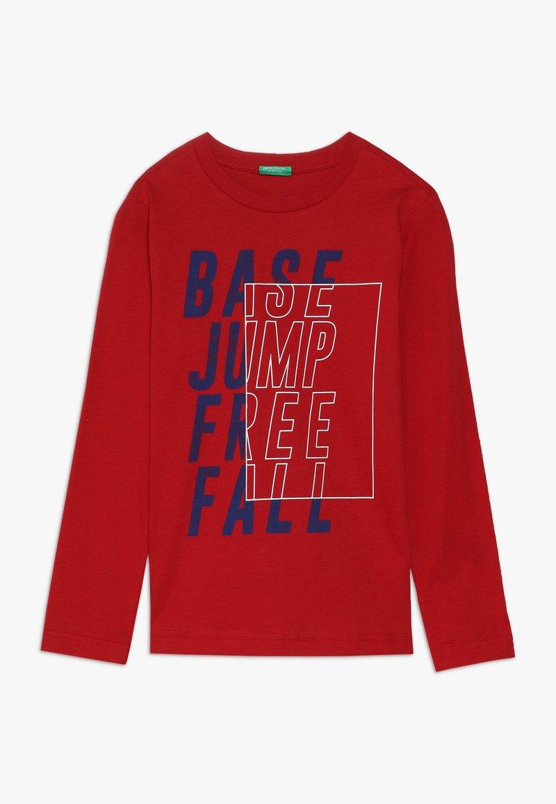 Benetton - Bluzka z długim rękawem - dark red