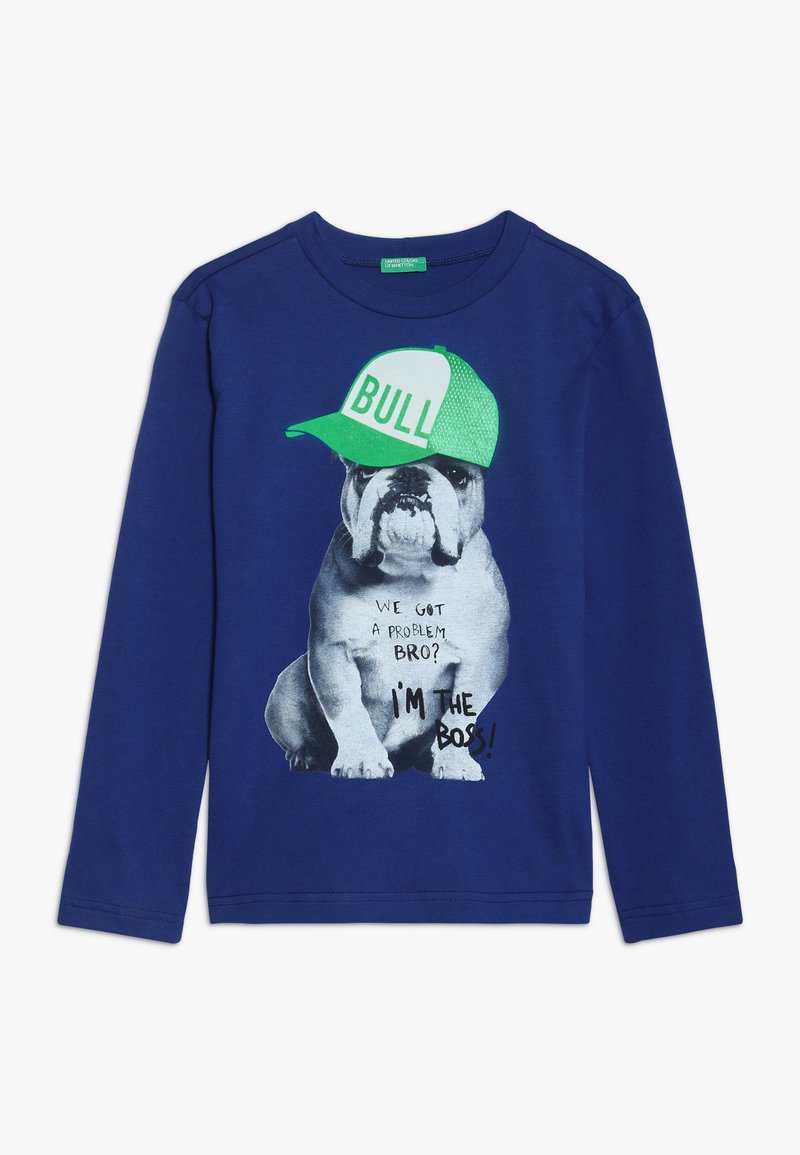 Benetton - Langærmede T-shirts - blue
