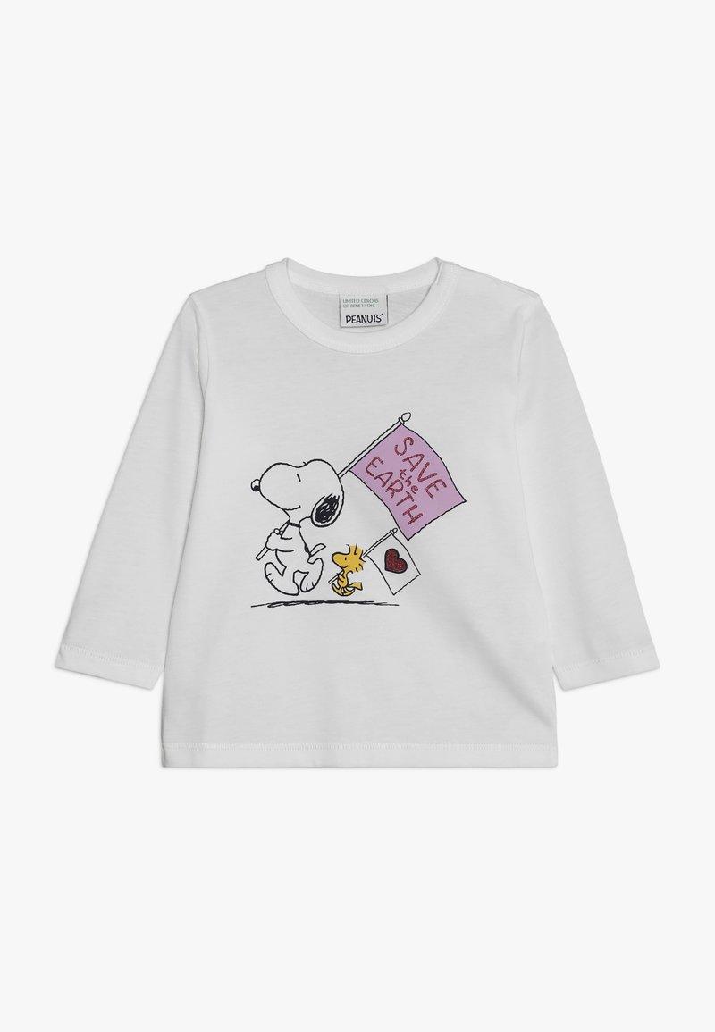 Benetton - SNOOPY - T-shirt à manches longues - white