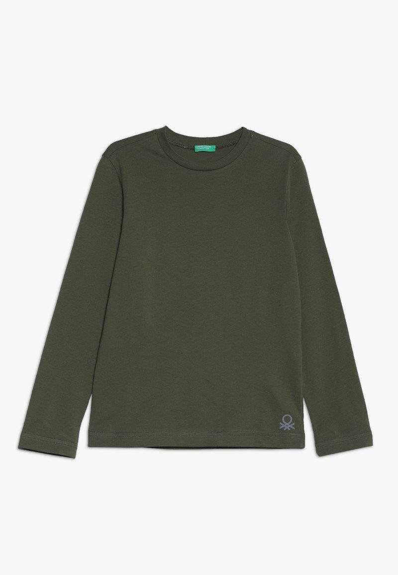 Benetton - Langærmede T-shirts - khaki