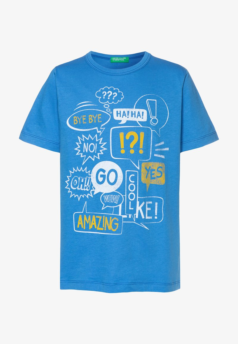 Benetton - T-shirt con stampa - blue